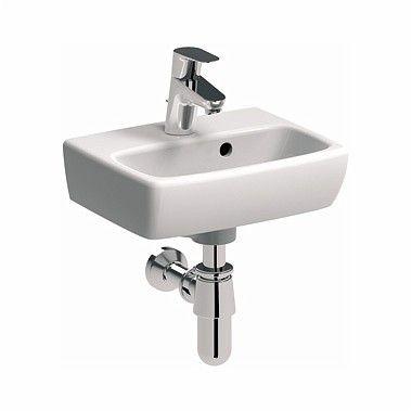 Nova Pro umywalka wisząca prostokątny z otworem z przelewem 360 x 280 mm biała