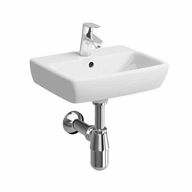 Nova Pro umywalka wisząca prostokątny z otworem z przelewem 450 x 350 mm biała