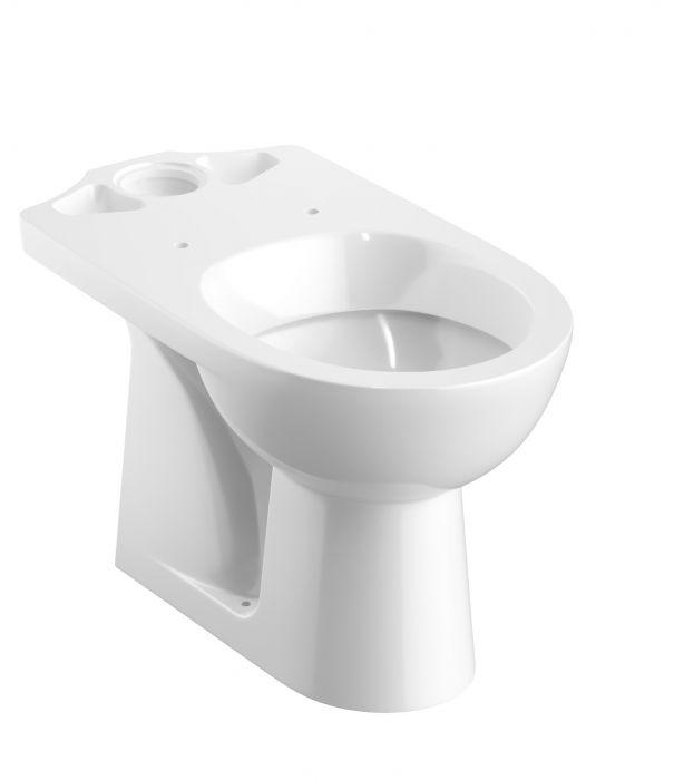 NOVA PRO miska kompaktowa odpływ pionowy 35.7 x 66.5 x 39 cm biała