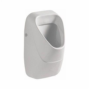 Nova Pro pisuar wiszący dopływ z tyłu, odpływ pionowy/poziomy 34 x 34 x 57 cm biały ze zintegrowanym ceramicznym sitkiem