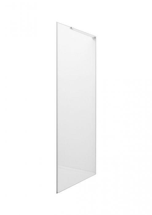 METROPOLIS ścianka boczna 800 x 1950 mm chrom szkło hartowane transparentne MaxiClean