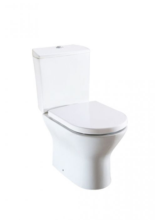 NEXO miska WC z montażem do posadzki stojąca odpływ podwójny 37.5 x 66.5 x 79 cm biała 3/6 l z zestawem montażowym