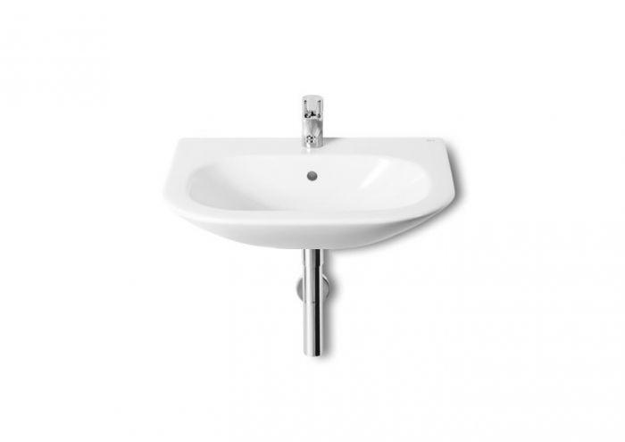 NEXO umywalka ścienna z otworem 550 x 440 x 190 mm biała z zestawem mocującym