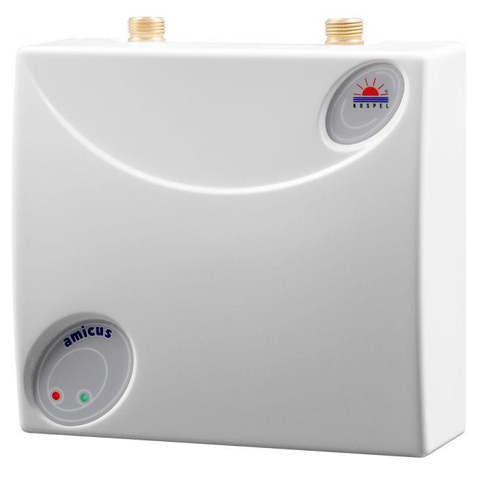 Podgrzewacz elektryczny przepływowy ciśnieniowy podumywalkowy AMICUS EPO.D-5 5 kW 230 V 229 x 209 x 87 mm