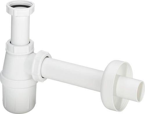 """Syfon do umywalki i bidetu butelkowy z tworzywa sztuczego 5725PL G 1 1/4"""" x DN 32 spodek 50 mm"""