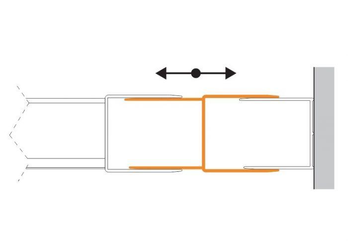 Profil poszerzający wymiar do drzwi TX5b srebrny błyszczący