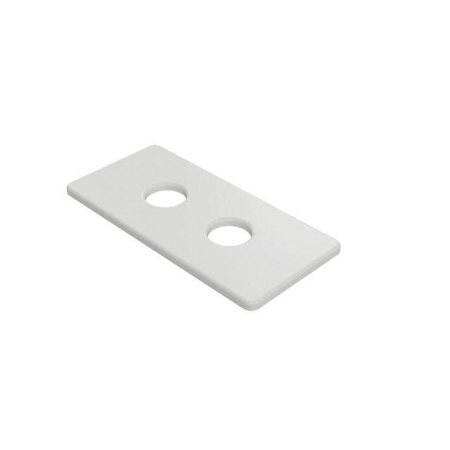 Rozeta maskująca podwójna SKALAR 150/70 L50 biała