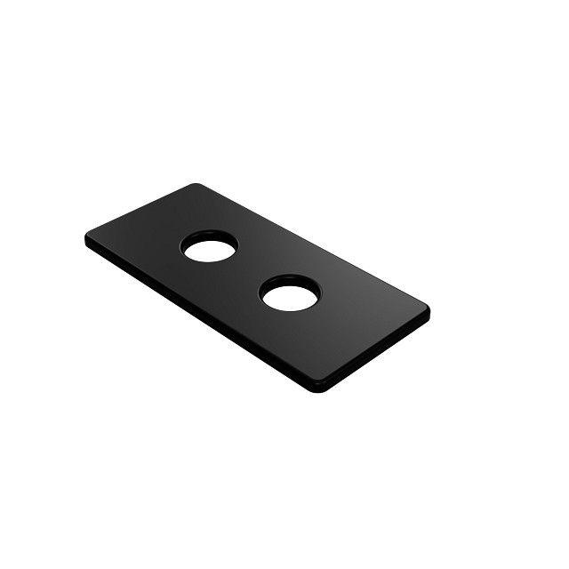 Rozeta maskująca podwójna SKALAR 150/70 L50 0557 black matt