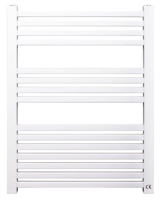 Grzejnik łazienkowy pionowy SKALAR Monza 95/55 950 x 550 x 75 mm 476 W przyłącze 11 biały