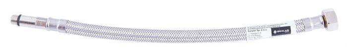 """Wąż przyłączeniowy SKALAR w oplocie ze stali nierdzewnej z długą końcówką z długą końcówką 3/8"""" x M10 GW x GW 0.3 m"""