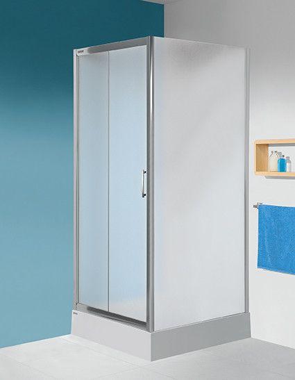 TX SS0/TX5b-90-S ścianka dodatkowa 900 x 1900 mm srebrny błyszczący szkło hartowane Sitodruk W15  Glass protect