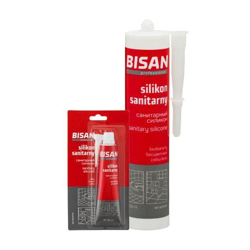 Silikon sanitarny BISAN bezbarwny 0,300 l