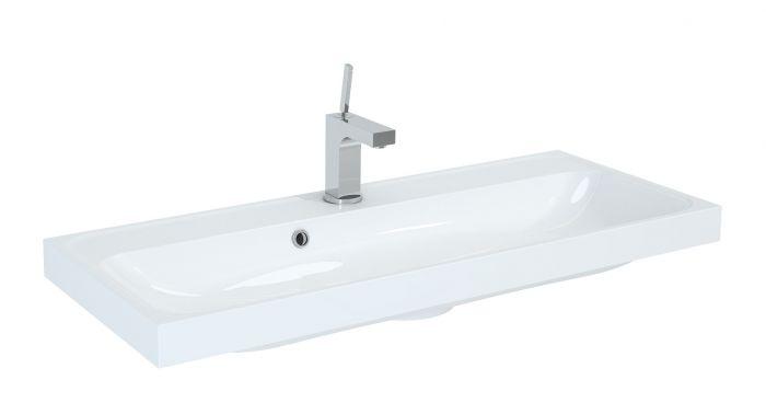 Kwadro 1000 umywalka konglomeratowa meblowa prostokątny 1000 x 400 x 55 mm biała