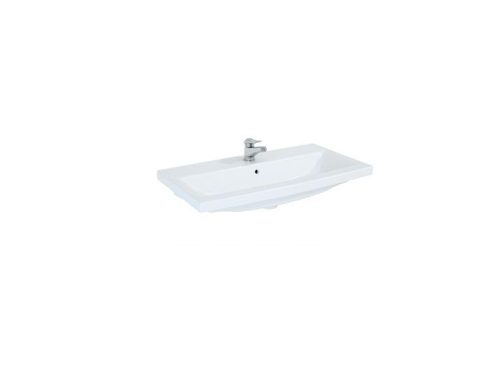 Milos umywalka ceramiczna meblowa prostokątny 805 x 405 x 42 mm biała