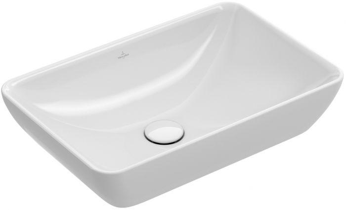 Venticello umywalka nablatowa bez otworu z przelewem 550 x 360 mm Weiss Alpin