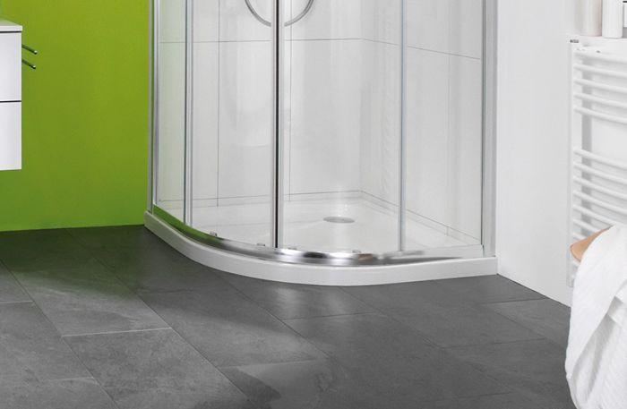 Xerano brodzik akrylowy półokrągły 80 x 80 x 15 cm biały bez zintegrowanej obudowy