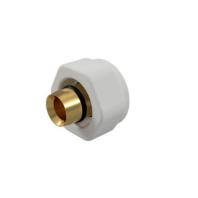 Złączka zaciskowa SKALAR do rury PEX 16x2 biała