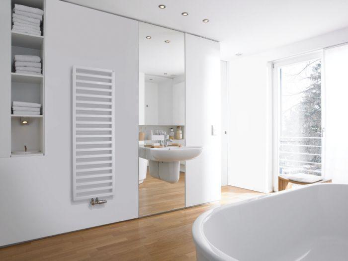 Grzejnik łazienkowy Quaro QA 100-045 971 x 450 x 90 mm 420 W przyłącze S012 0521 white quartz #3