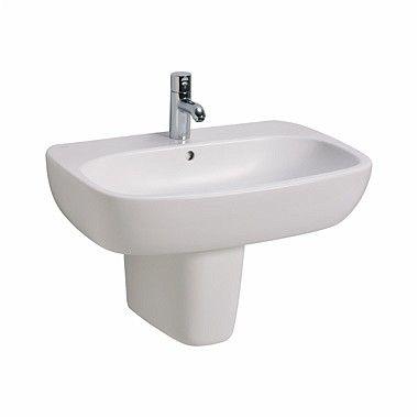 STYLE umywalka wisząca z otworem z przelewem 600 x 460 mm biała