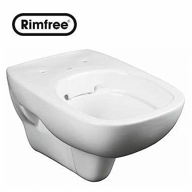 Style miska ustępowa wisząca Rimfree 33.5 x 51 x 35.6 cm biała