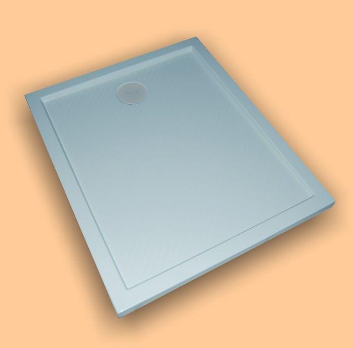Purano brodzik mineralny prostokątny antypoślizgowy 120 x 90 x 4 cm biały
