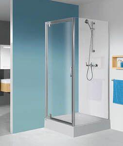 TX SS0/TX5b-80-S ścianka dodatkowa 800 x 1900 mm srebrny błyszczący szkło hartowane transparentne W0  Glass protect
