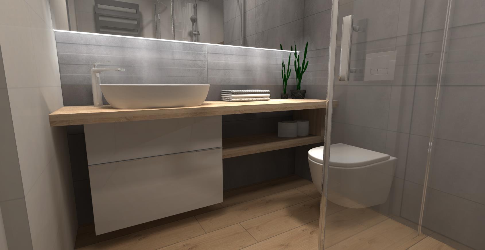 Mała Nowoczesna łazienka Sanpol