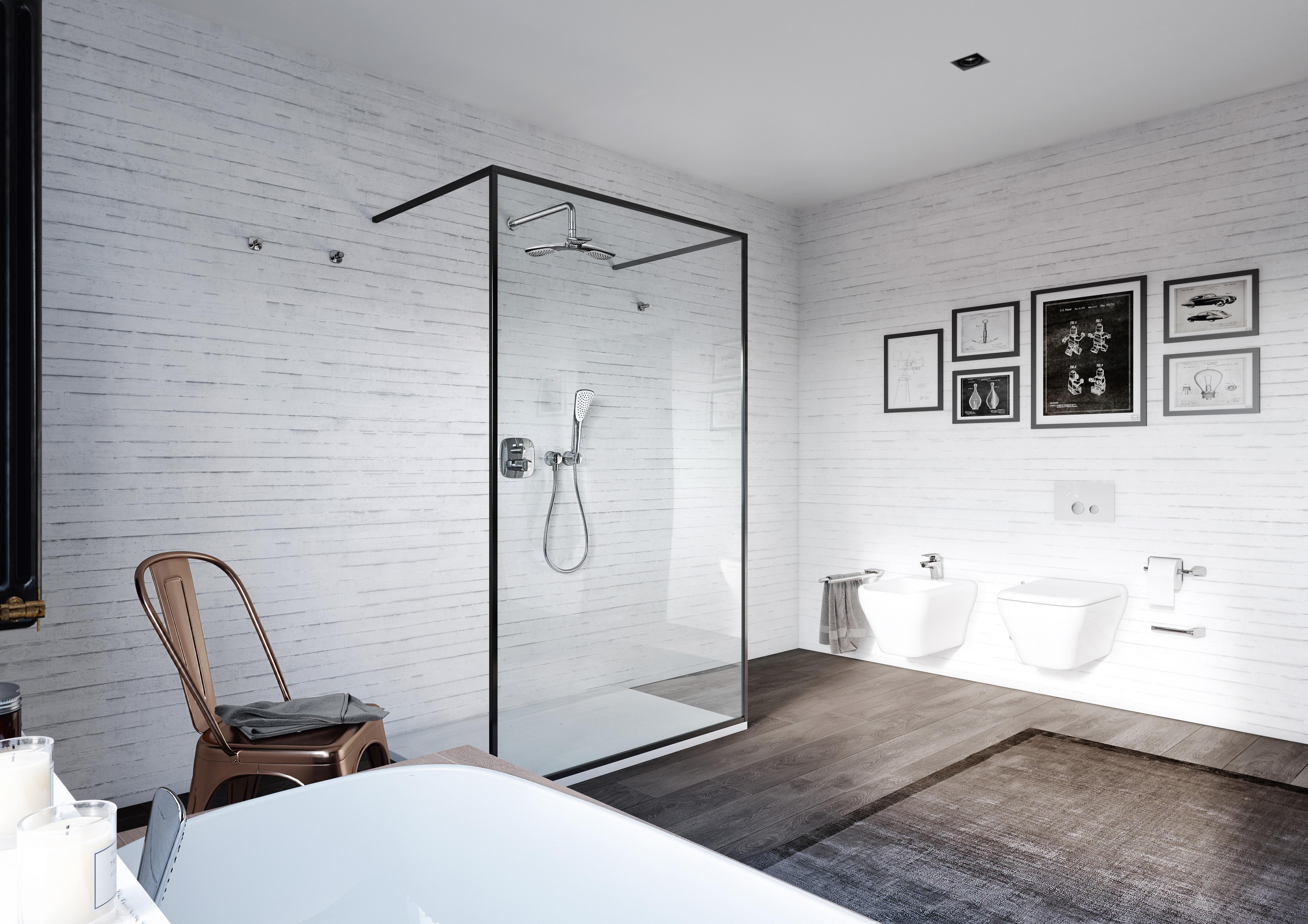 Duża łazienka Jak Wydzielić W Niej Strefę Suchą I Mokrą