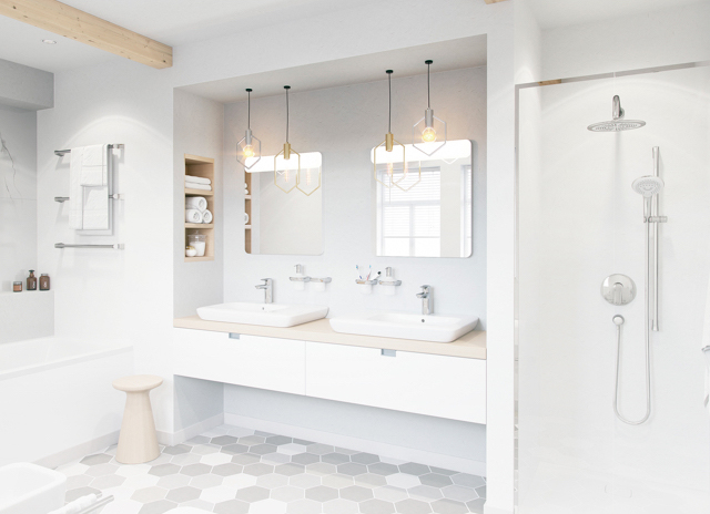 Wyposażenie łazienki Armatura Płytki Meble Salon